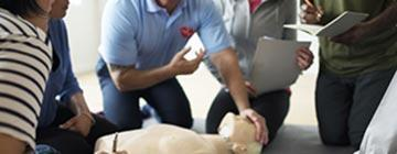 Performing CPR Training